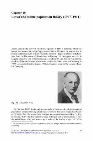 lotka theory