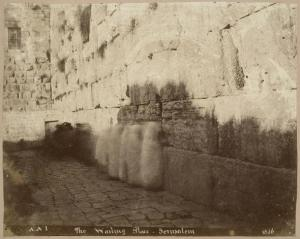 Albert Augustus Isaacs, photographer. The Wailing Wall, Jerusalem. 1856. Albumen silver print, 21.9 x 27.5 cm. CCA Collection. PH1983:0517.01:013