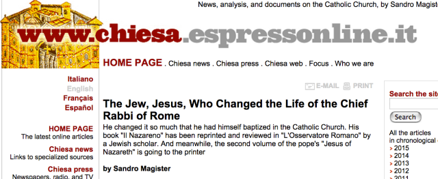 "20 February 2010 Anna Foa reviews ""The Nazarene"" by Israel"