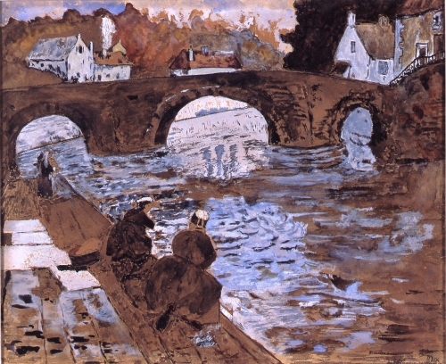 washerwomen at pont fleuri