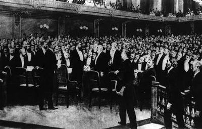 Delegates at First Zionist Congress