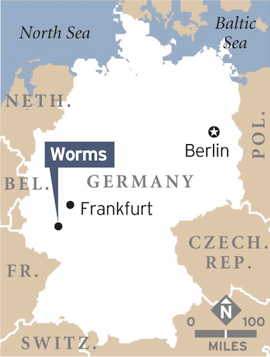 1 March 1349 Black Death reaches Worms where 580 Jews commit