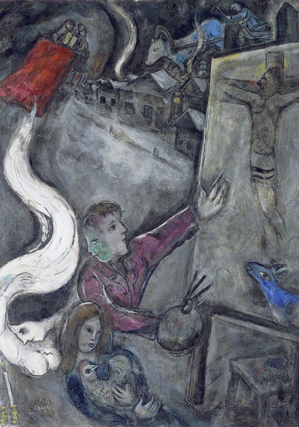 28 March 1985 Death of Marc Chagall, painter of Yeshua # ... Chagall Crucifixion