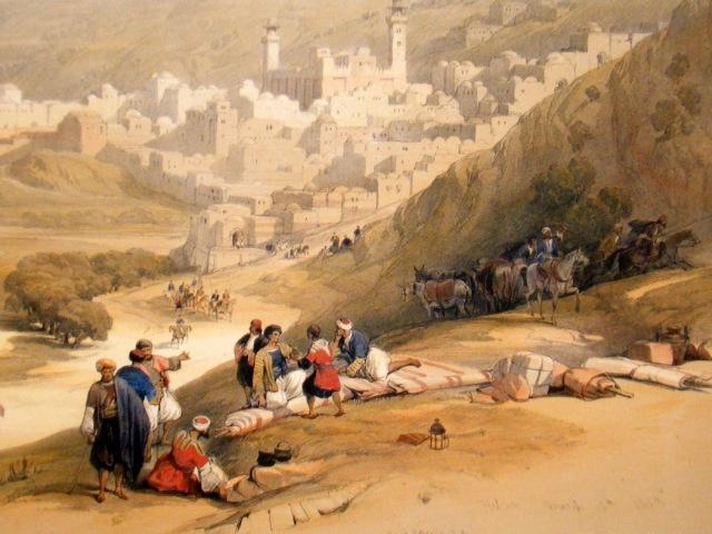 david-roberts-holy-land-deluxe-1840-s-hc-lg-folio-print.-hebron-palestine-[2]-102557-p