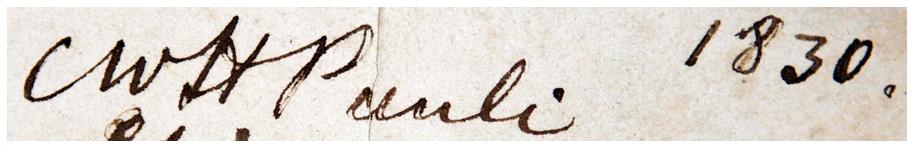 Pauli's signature