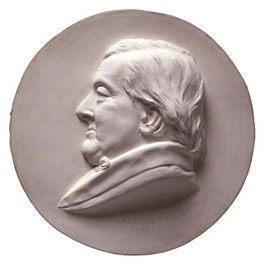 by Thomas Woolner, plaster cast of medallion, 1861