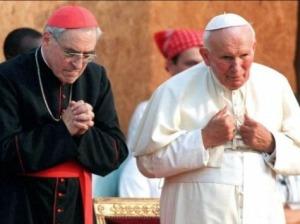 Pope-John-Paul-II-Cardinal-Lustiger-pray-afp